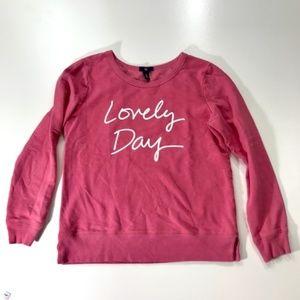 "GAP Pink Sweatshirt ""Lovely Day"""